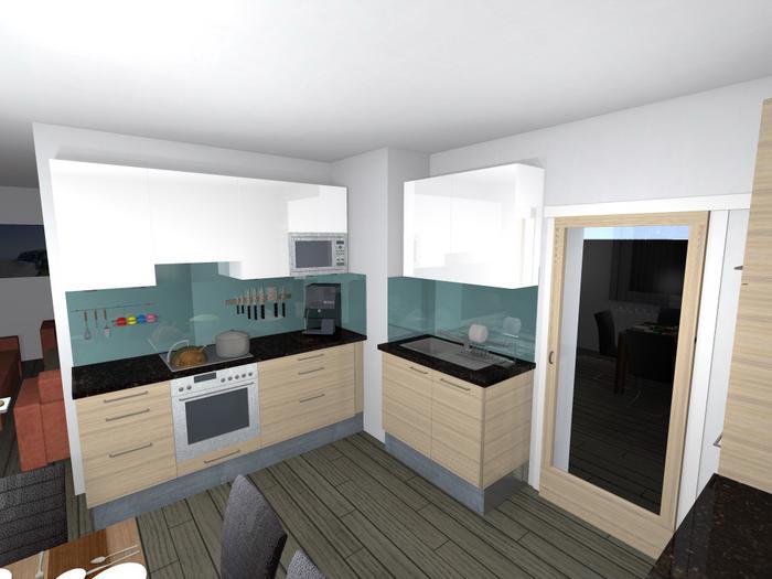 rabl tischler - 3d-planung - Esche Küche